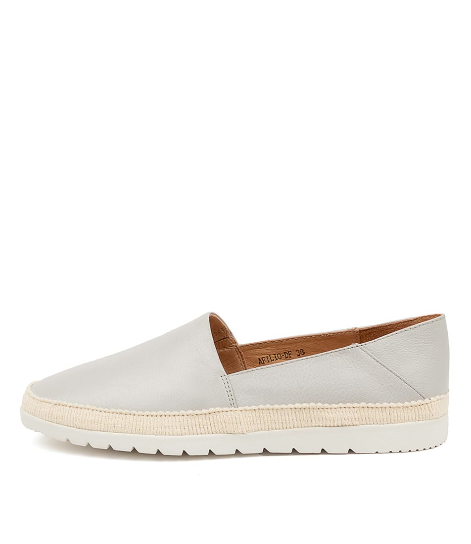 Buy Diana Ferrari Afilio Df Misty White Sol Flats online with free shipping