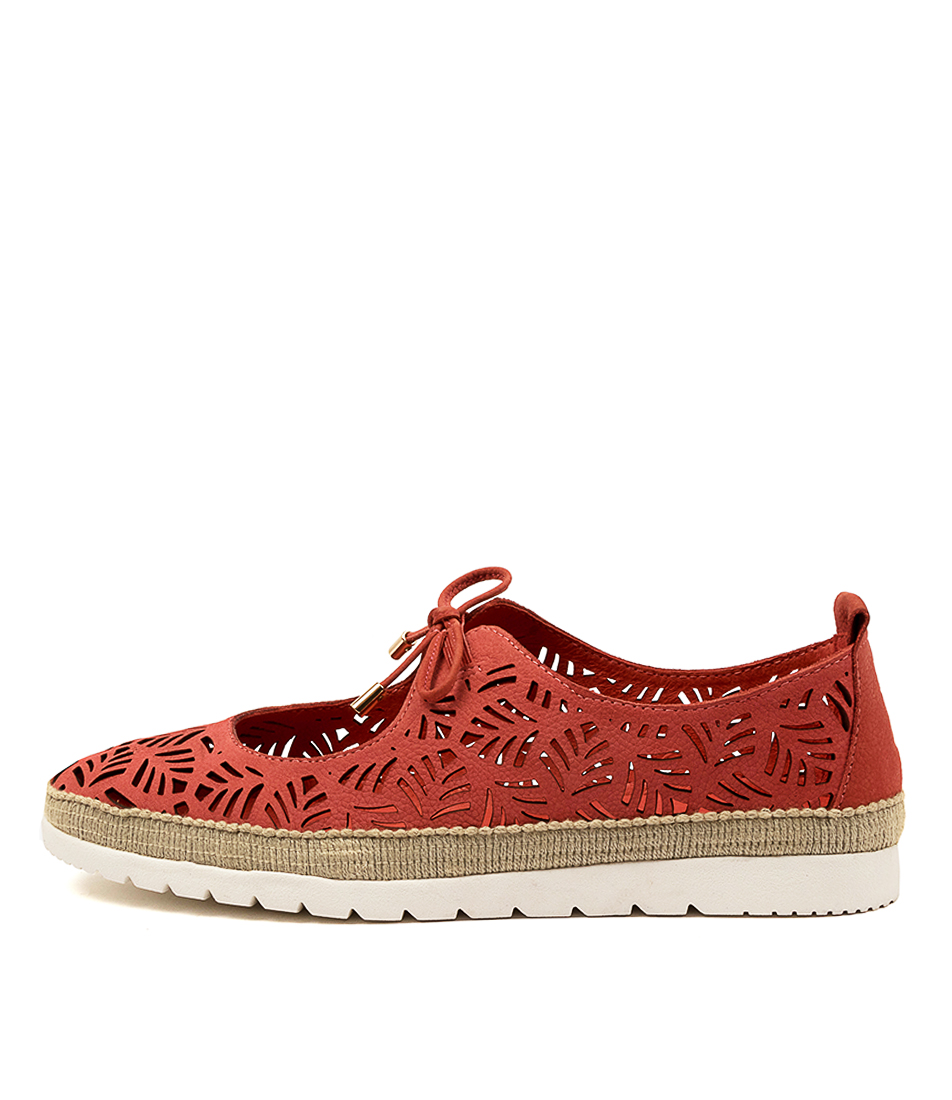 Buy Diana Ferrari Anniee Df Burnt Orange Flats online with free shipping