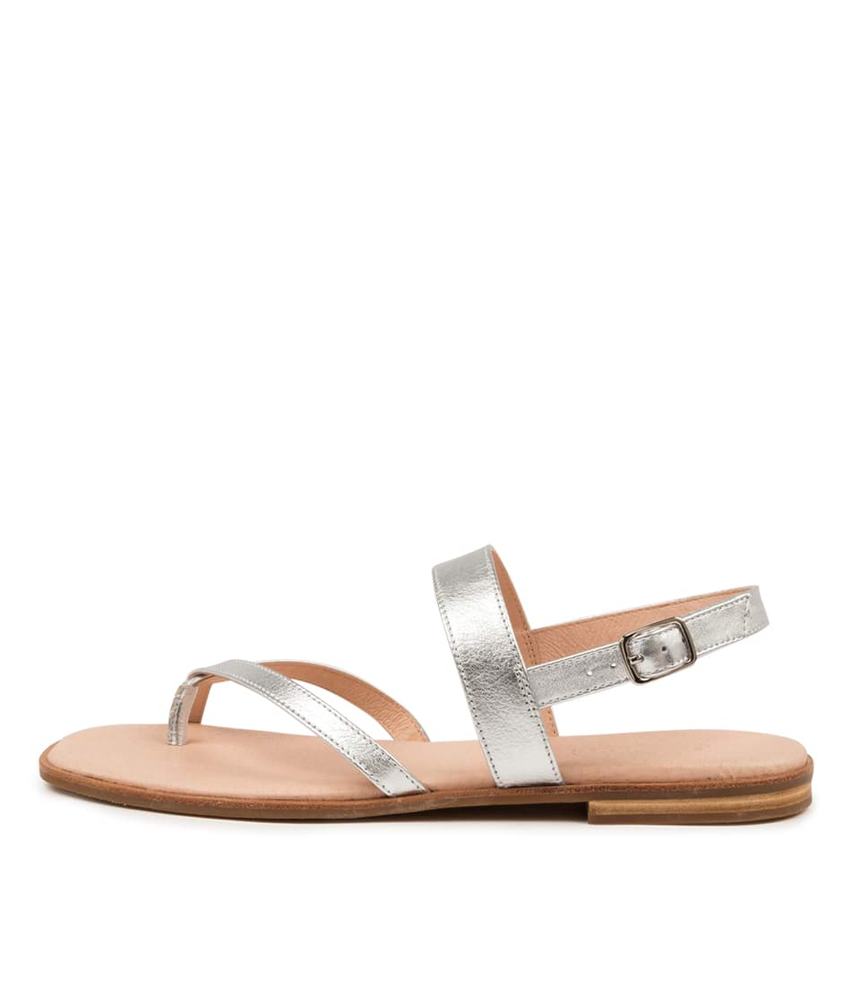 Buy Diana Ferrari Anord Df Silver Flat Sandals online with free shipping