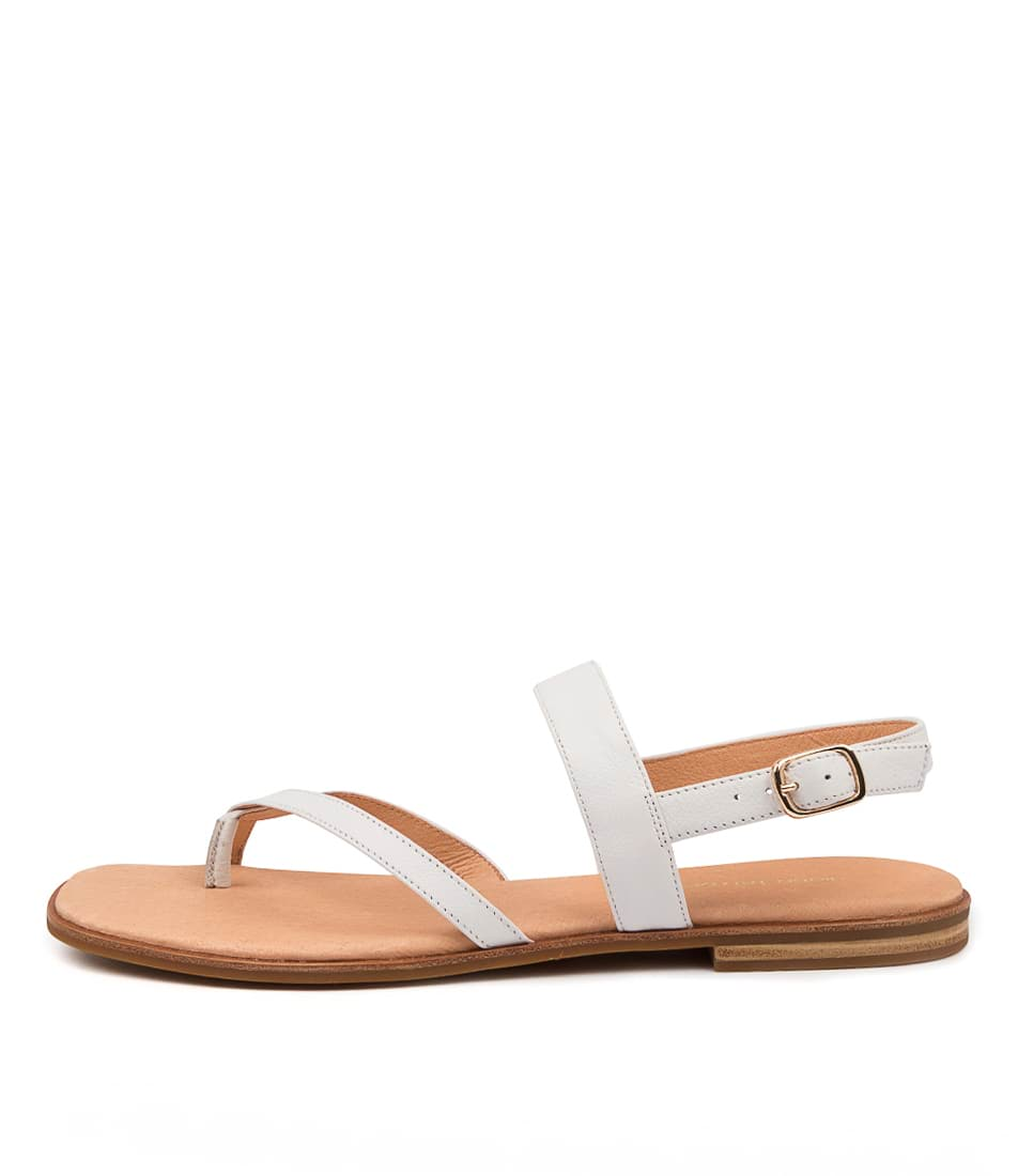Buy Diana Ferrari Anord Df White Flat Sandals online with free shipping