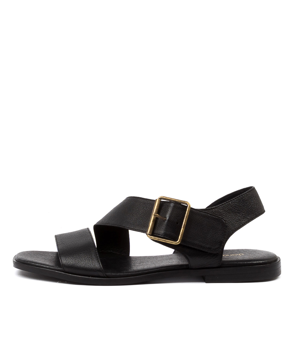 Buy Diana Ferrari Arko Df Black Flat Sandals online with free shipping