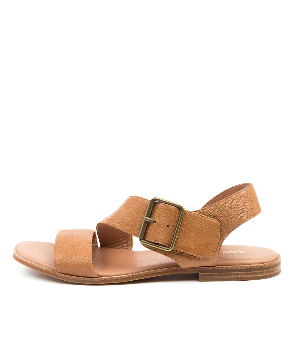 Buy Diana Ferrari Arko Df Dk Tan Flat Sandals online with free shipping