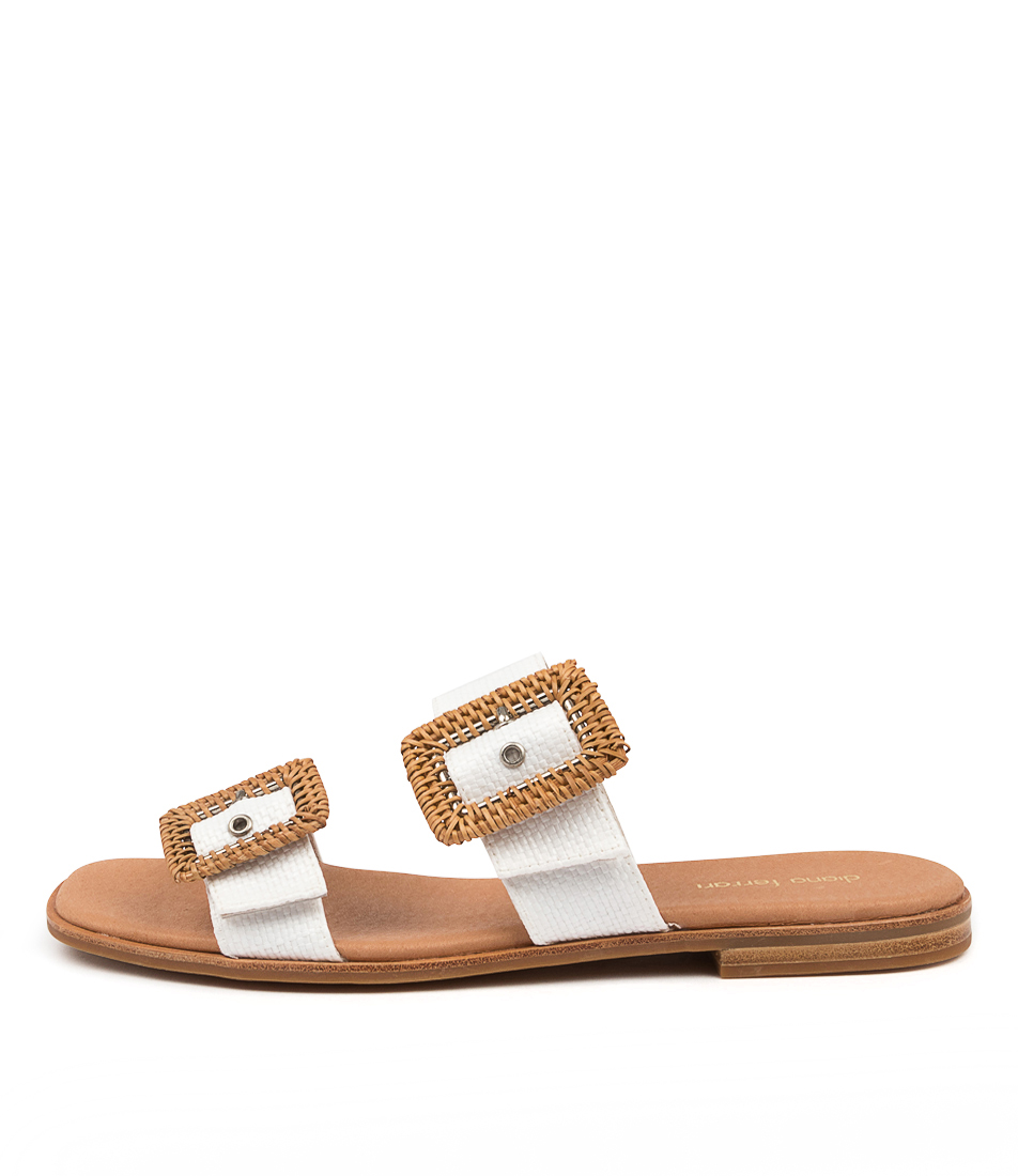 Buy Diana Ferrari Amystery Df White Flat Sandals online with free shipping