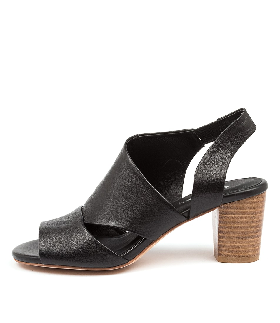 Buy Diana Ferrari Cemimile Df Black Natural Heel Heeled Sandals online with free shipping