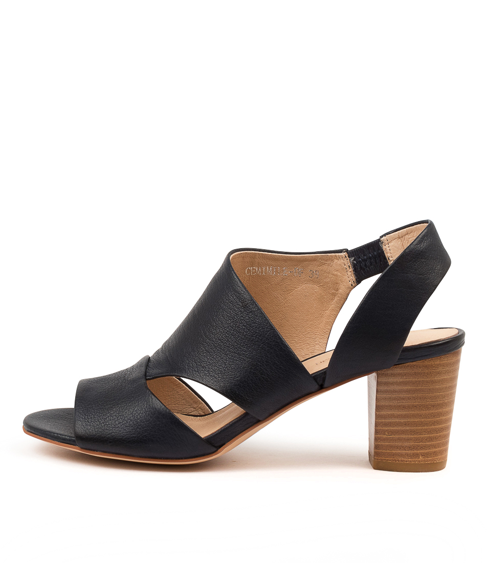 Buy Diana Ferrari Cemimile Df Navy Heeled Sandals online with free shipping