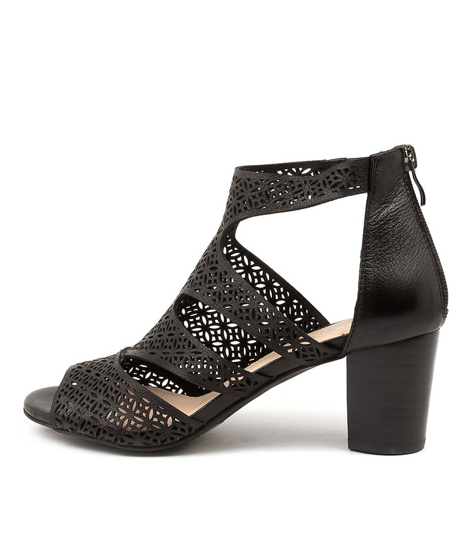 Buy Diana Ferrari Callme Df Black Heeled Sandals online with free shipping