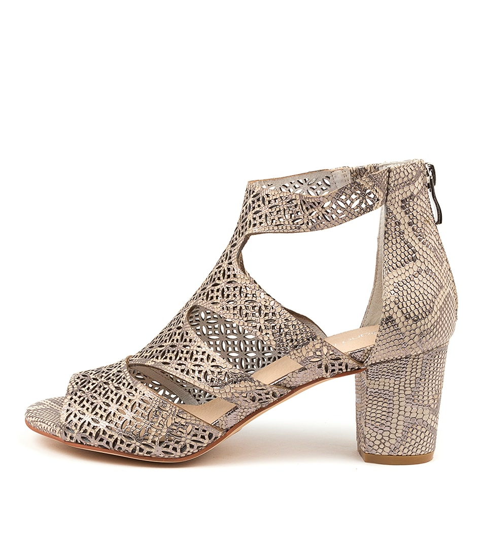 Buy Diana Ferrari Callme Df Silver Silver Heel Heeled Sandals online with free shipping