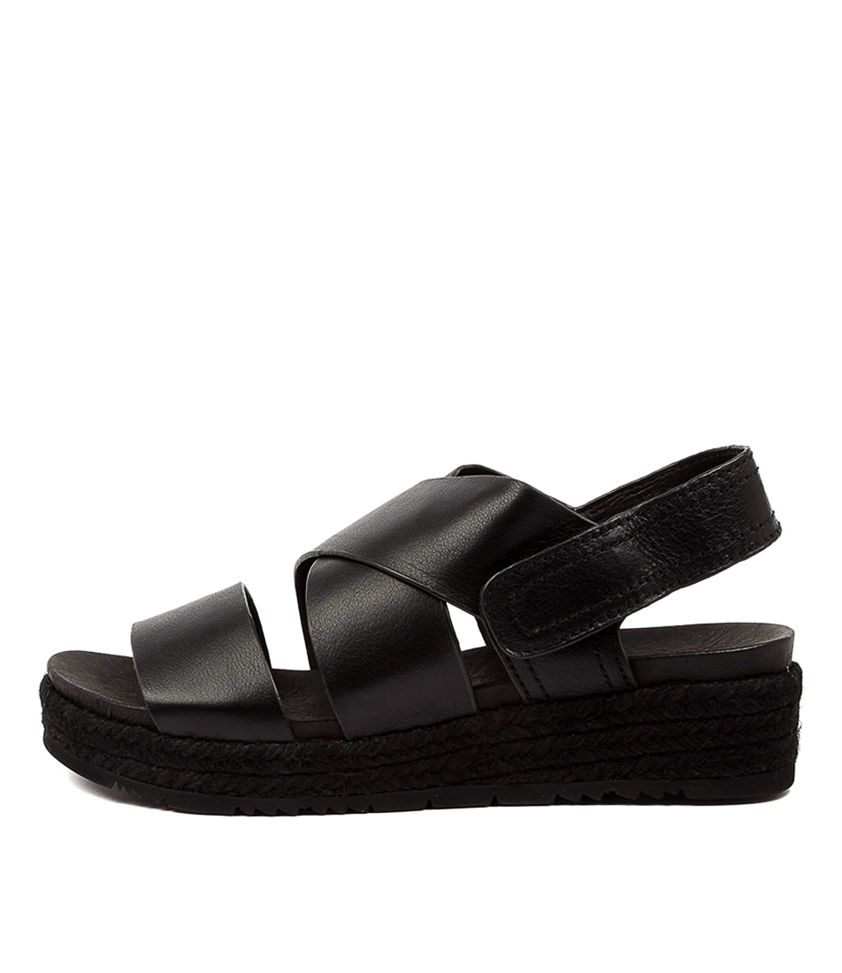 Buy Diana Ferrari Canelly Df Black Rop Flat Sandals online with free shipping