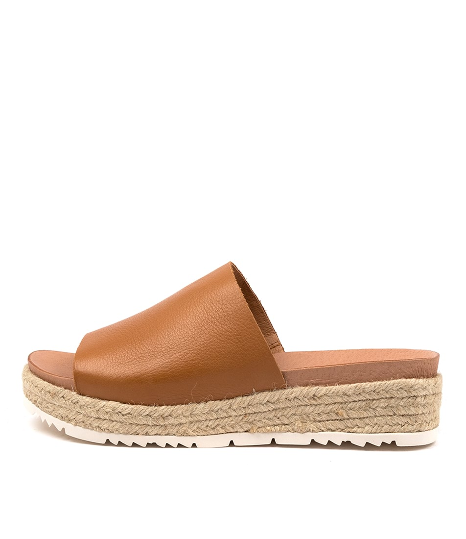 Buy Diana Ferrari Chichi Df Dk Tan Flat Sandals online with free shipping