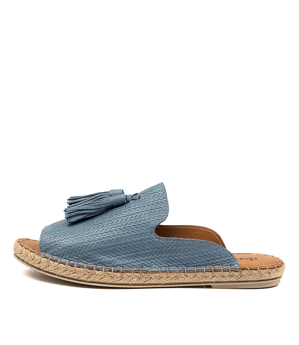 Buy Diana Ferrari Corelo Df Blue Flat Sandals online with free shipping