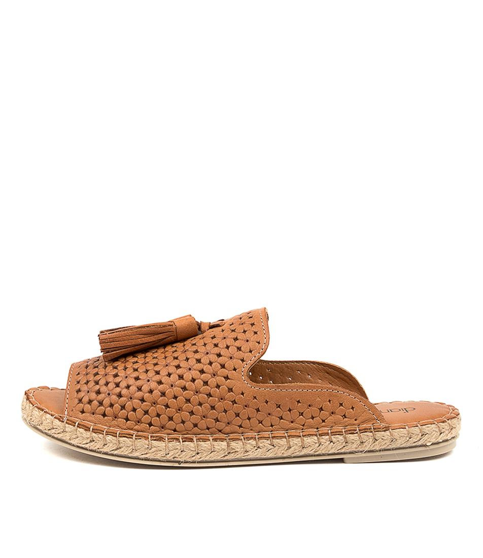 Buy Diana Ferrari Cavera Df Tan Flat Sandals online with free shipping