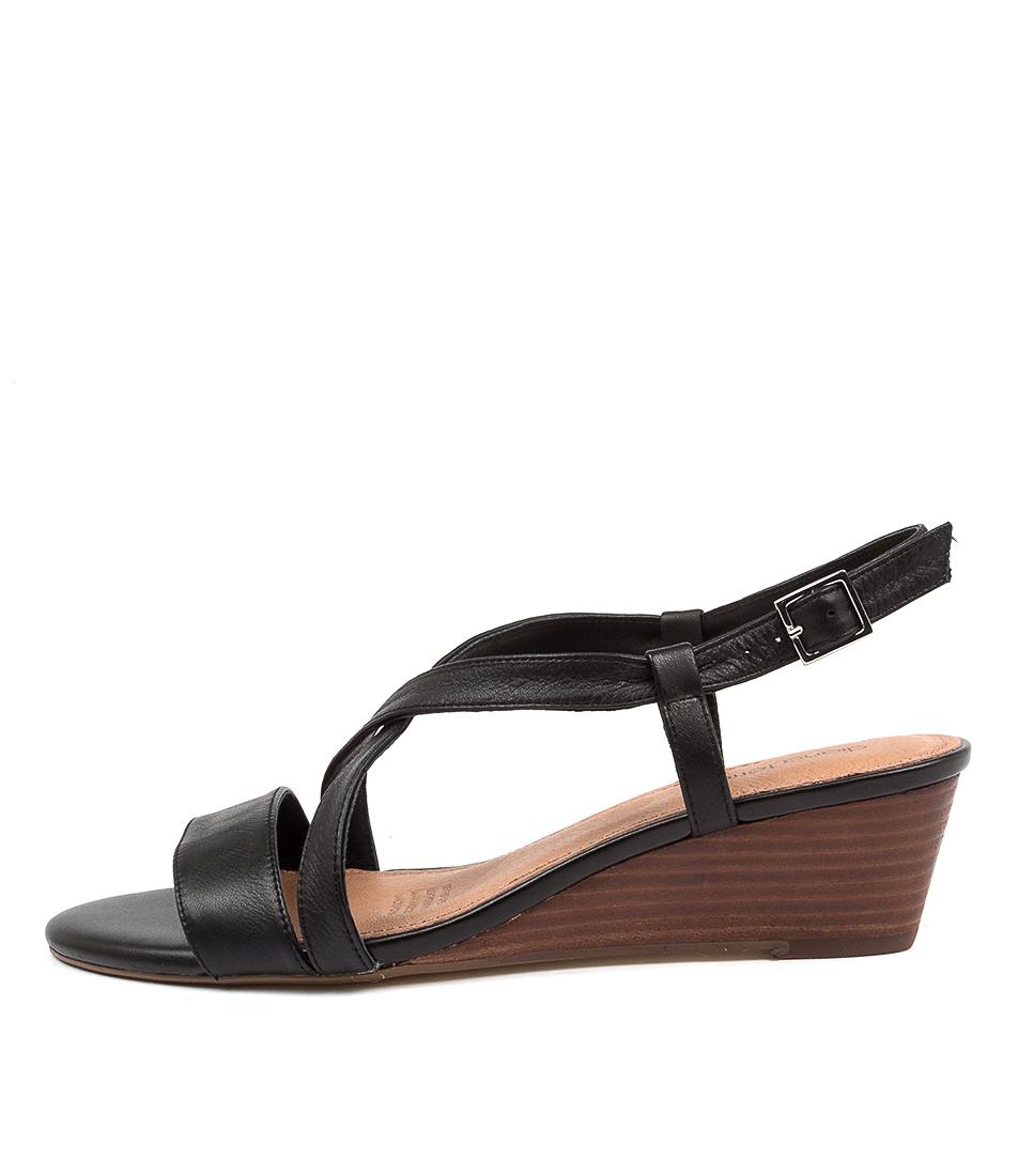 Buy Diana Ferrari Deneatia Df Black Natural Heeled Sandals online with free shipping