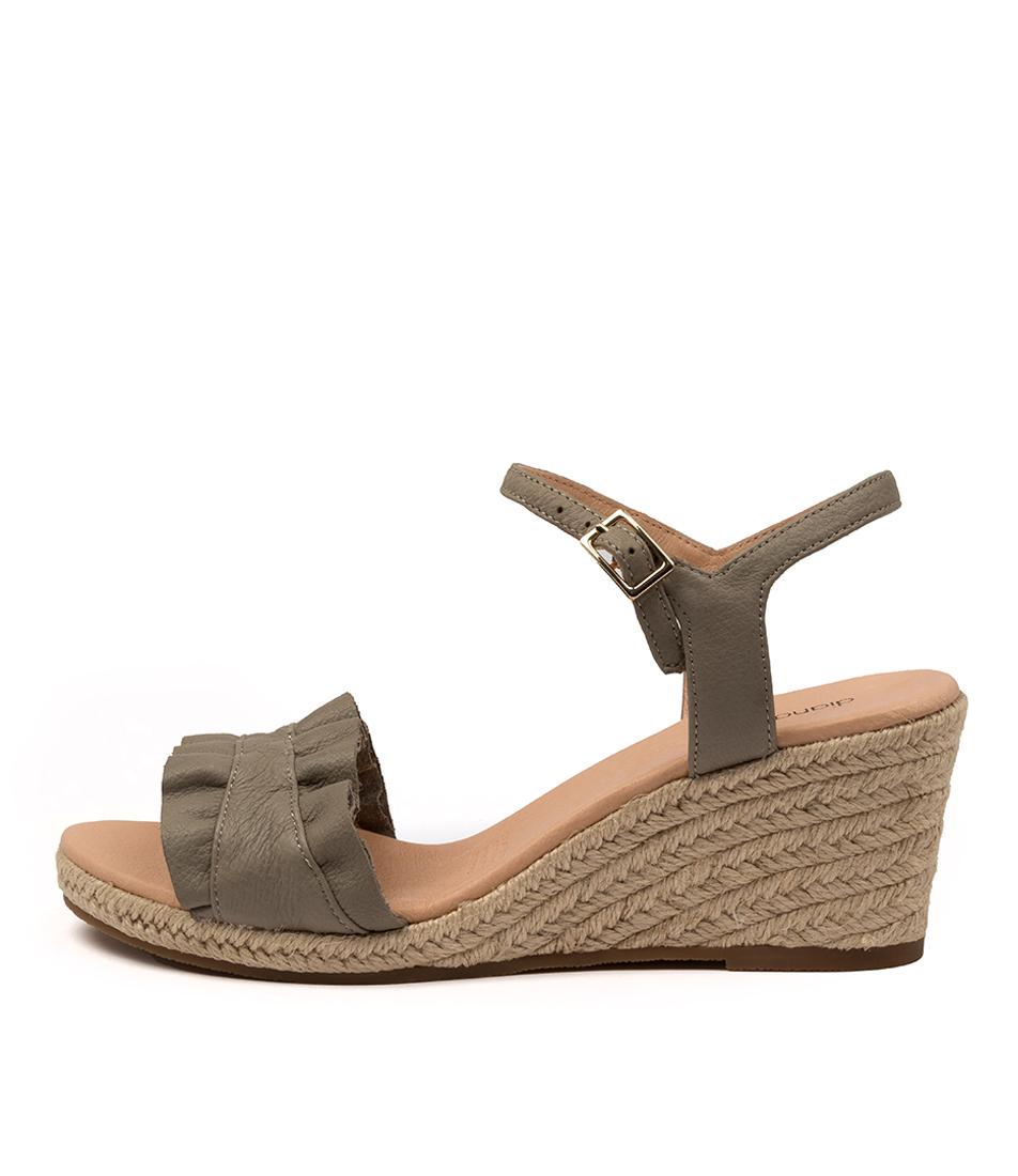 Buy Diana Ferrari Jossepnie Df Khaki Heeled Sandals online with free shipping