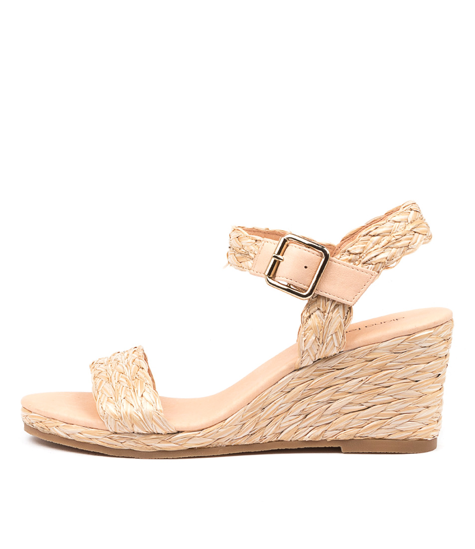 Buy Diana Ferrari Jonsiey Df Natural Heeled Sandals online with free shipping