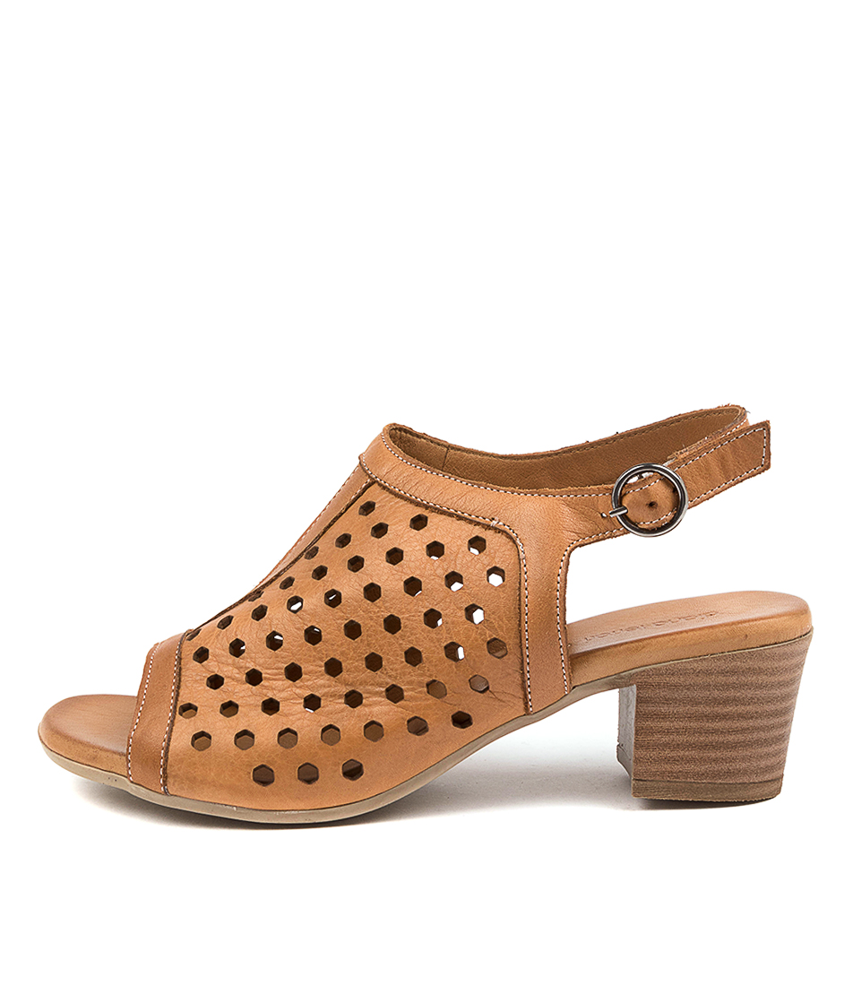 Buy Diana Ferrari Eiza Df Tan Heeled Sandals online with free shipping