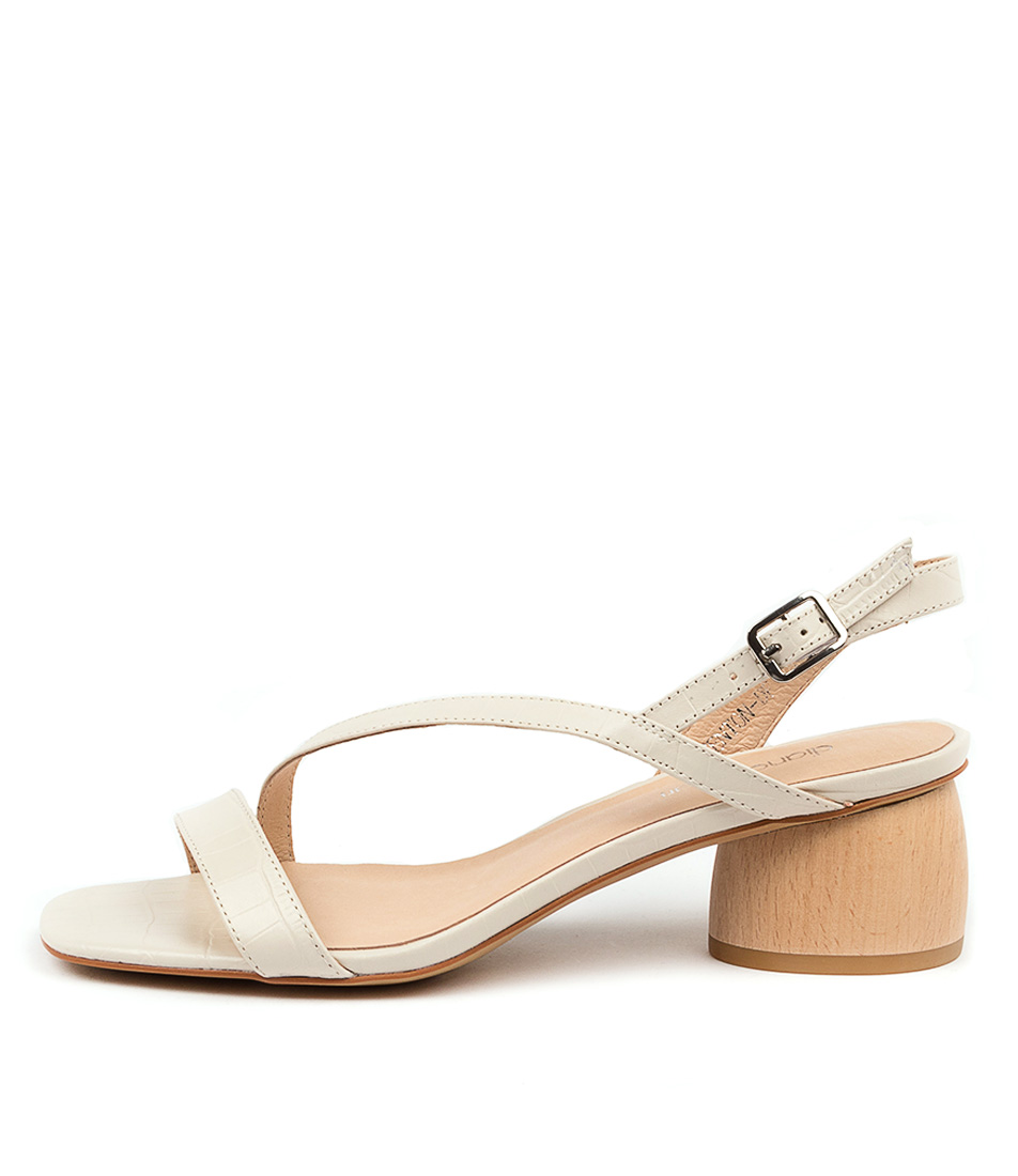 Buy Diana Ferrari Fenton Df White Heeled Sandals online with free shipping