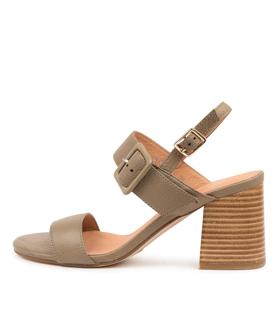 Buy Diana Ferrari Mismel Df Khaki Heeled Sandals online with free shipping