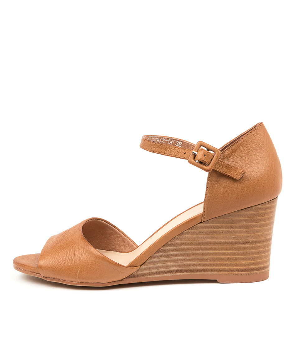 Buy Diana Ferrari Seenmie Df Dk Tan Natural Heeled Sandals online with free shipping