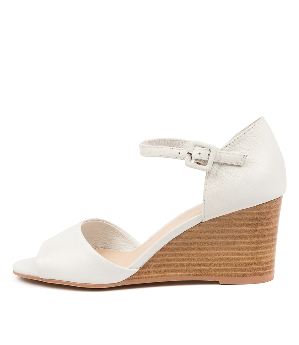 Buy Diana Ferrari Seenmie Df White Natural H Heeled Sandals online with free shipping