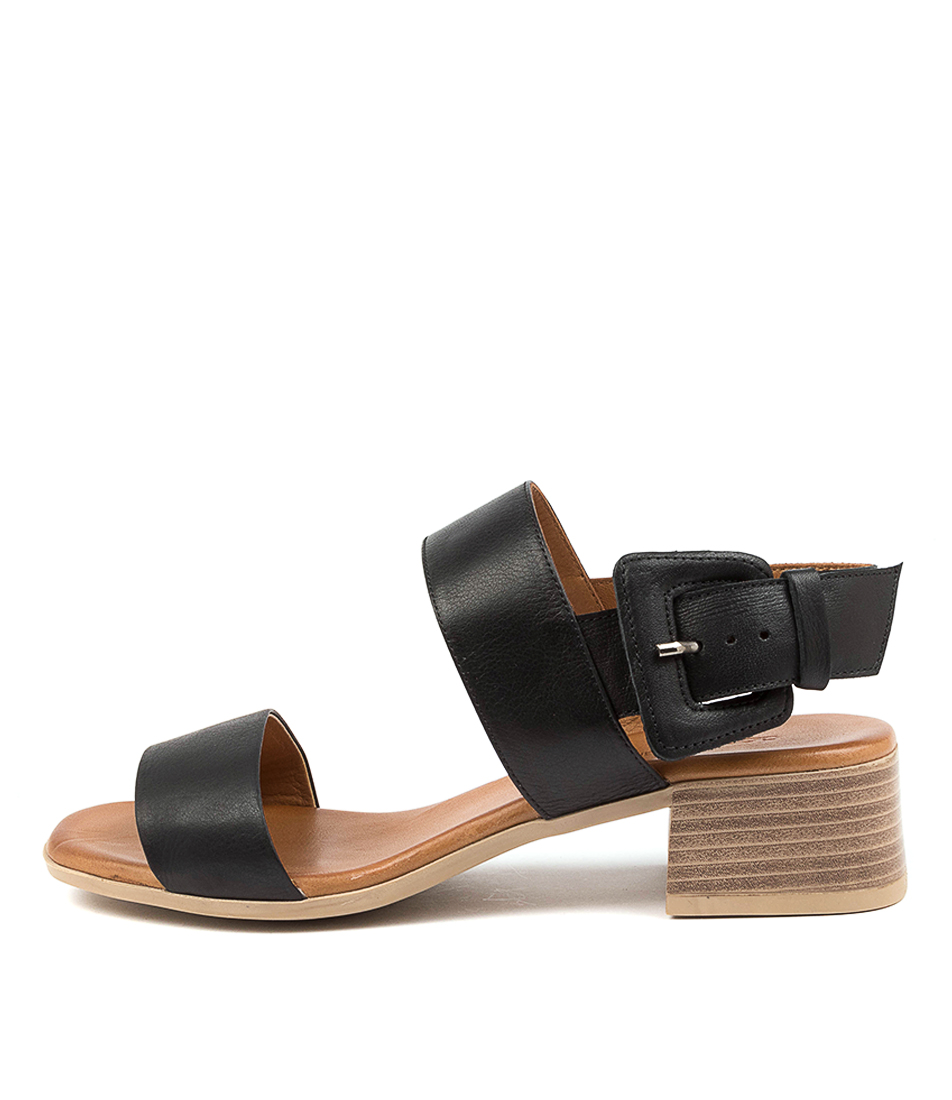 Buy Diana Ferrari Tryme Df Black Heeled Sandals online with free shipping