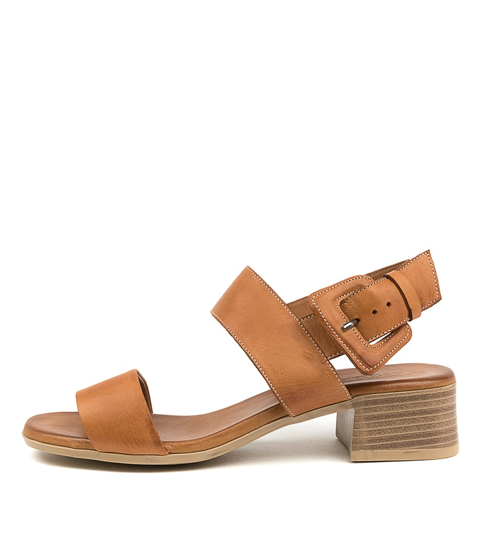 Buy Diana Ferrari Tryme Df Tan Heeled Sandals online with free shipping
