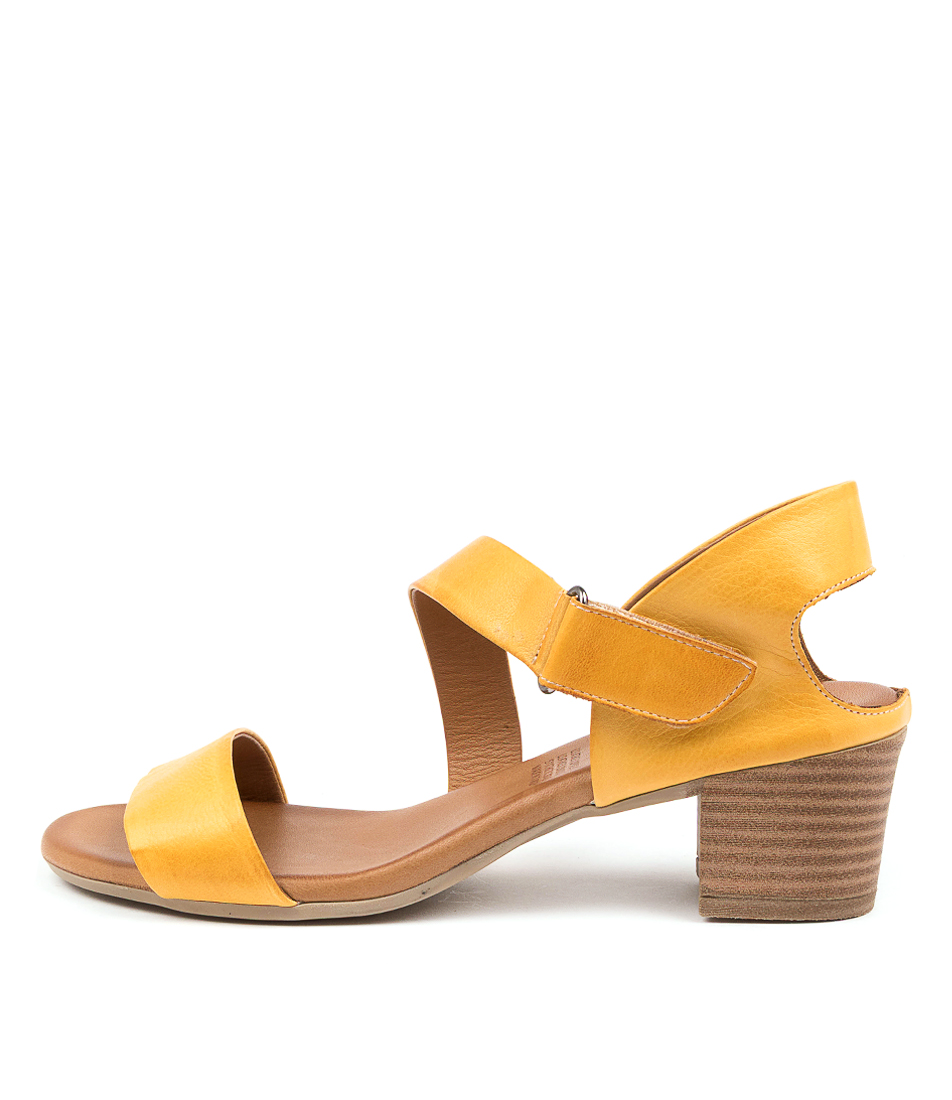 Buy Diana Ferrari Vally Df Dk Yellow Heeled Sandals online with free shipping