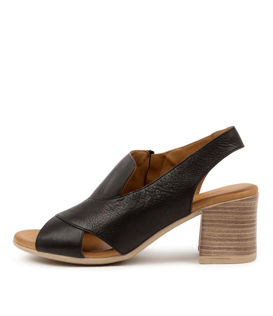 Buy Diana Ferrari Wondir Df Black Heeled Sandals online with free shipping