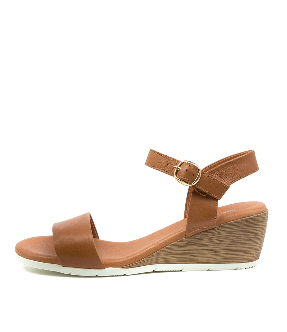 Buy Diana Ferrari Xapeina Df Dk Tan White Sole Heeled Sandals online with free shipping