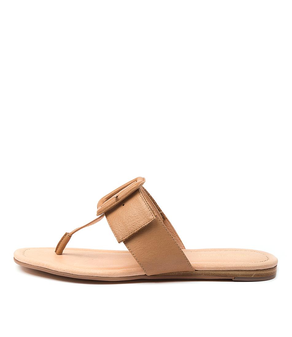Buy Diana Ferrari Yherdian Df Dk Tan Flat Sandals online with free shipping