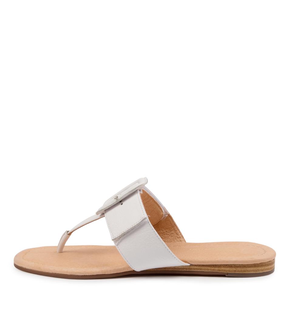 Buy Diana Ferrari Yherdian Df White Flat Sandals online with free shipping