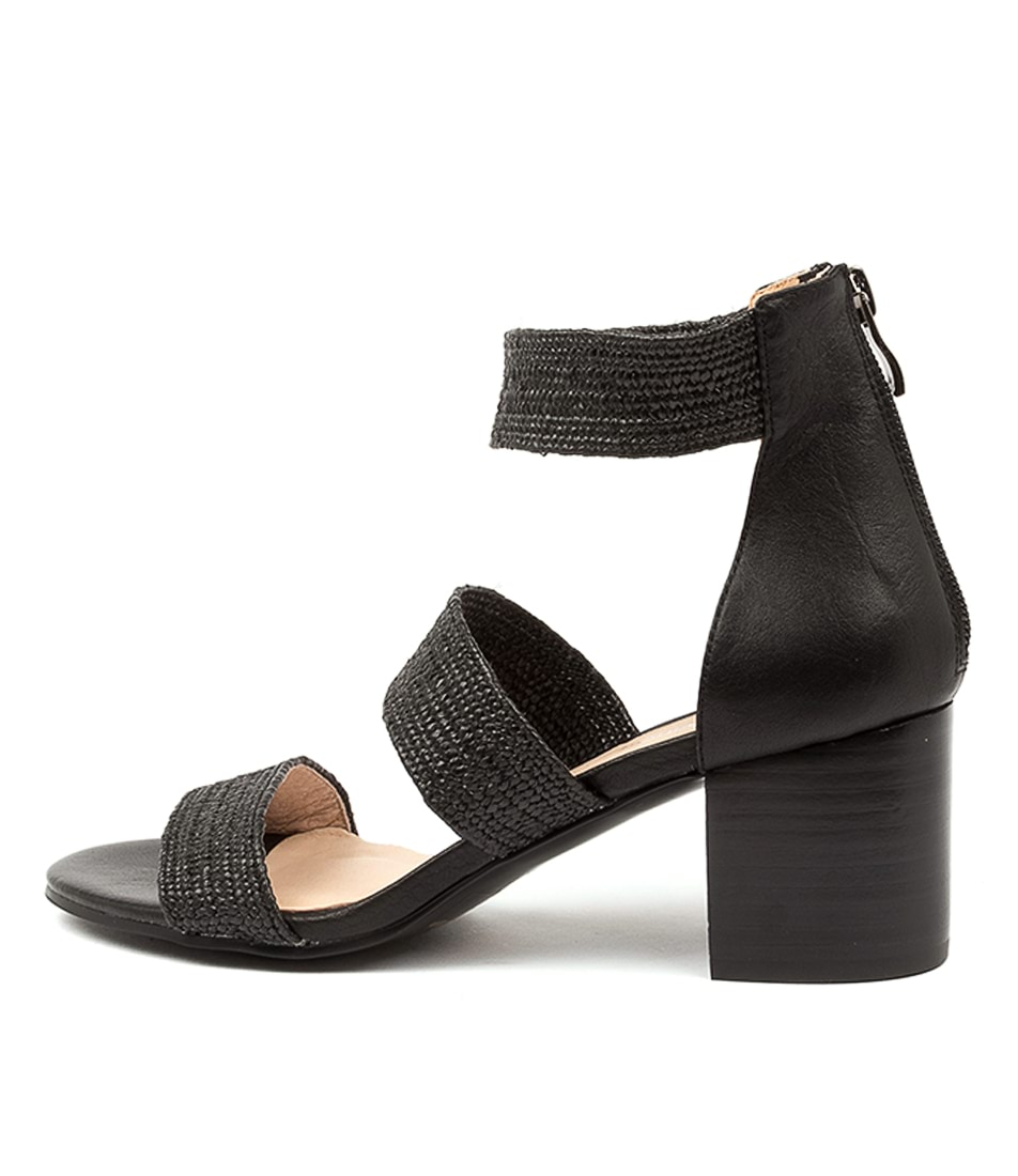 Buy Diana Ferrari Riveria Df Black Heeled Sandals online with free shipping