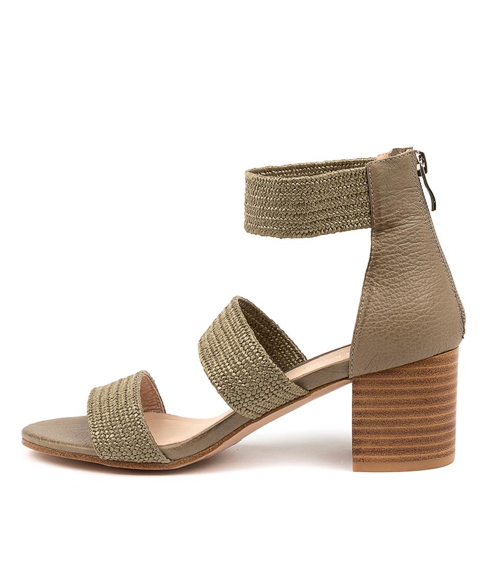 Buy Diana Ferrari Riveria Df Khaki Heeled Sandals online with free shipping