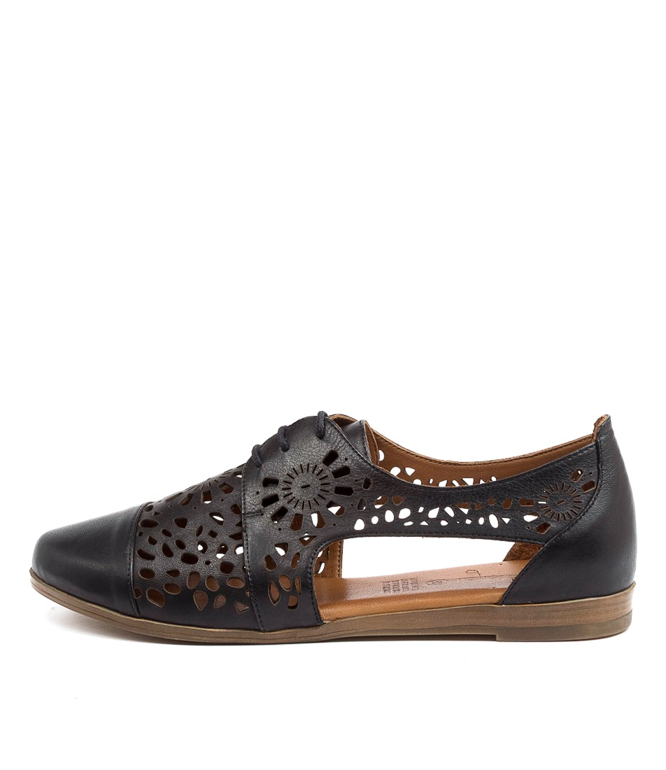 Buy Diana Ferrari Calli Df Black Flats online with free shipping
