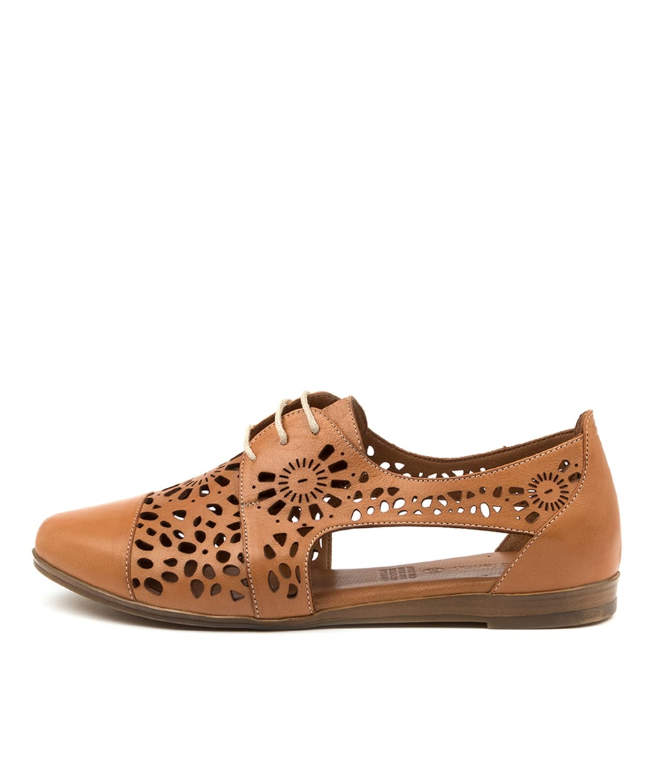 Buy Diana Ferrari Calli Df Tan Flats online with free shipping