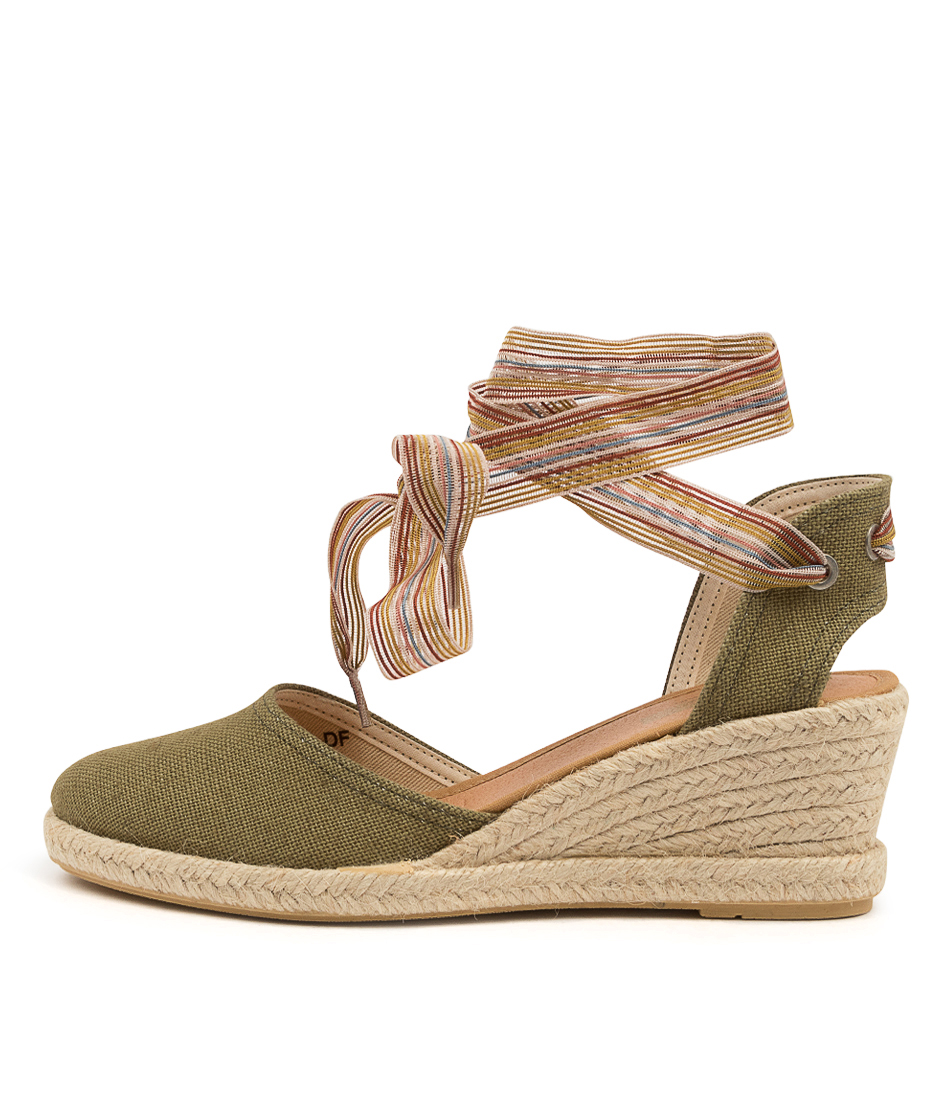 Buy Diana Ferrari Madmos Df Olive High Heels online with free shipping