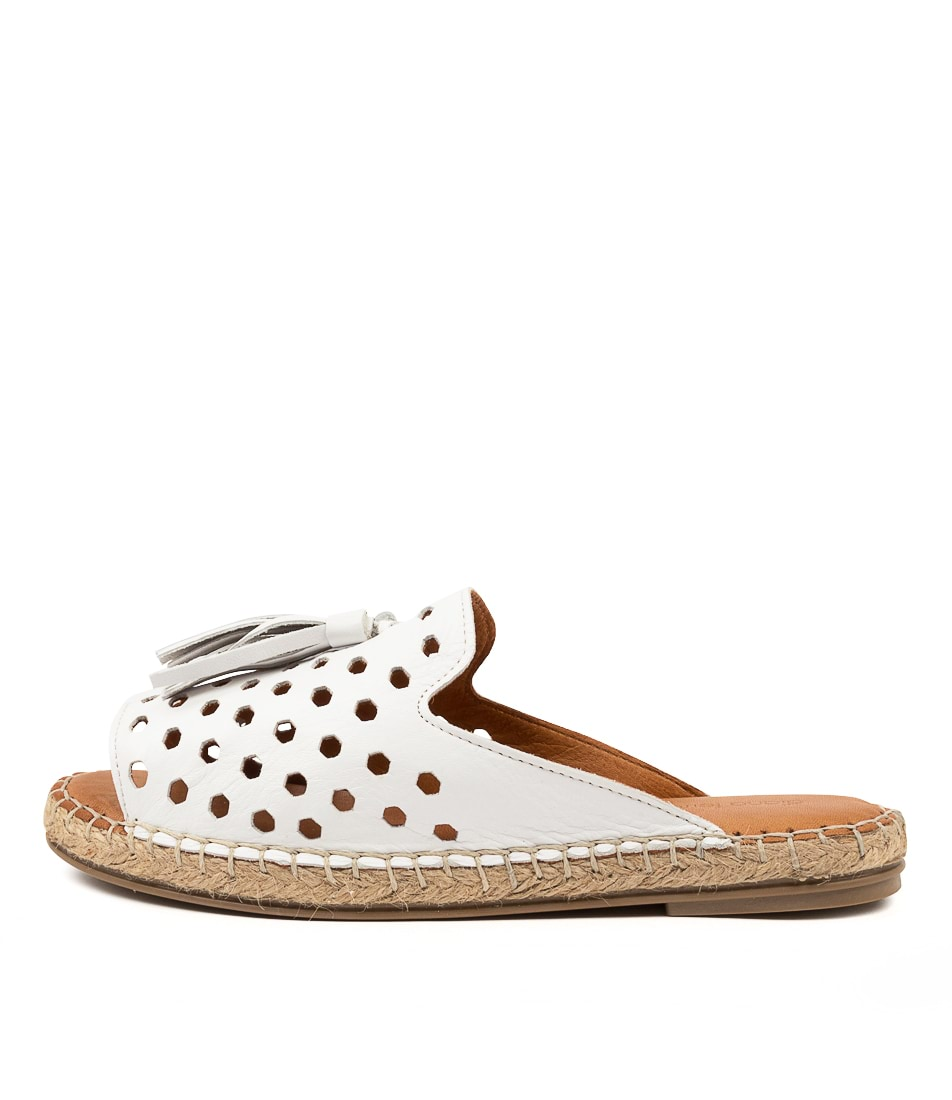 Buy Diana Ferrari Pamil Df White Flat Sandals online with free shipping