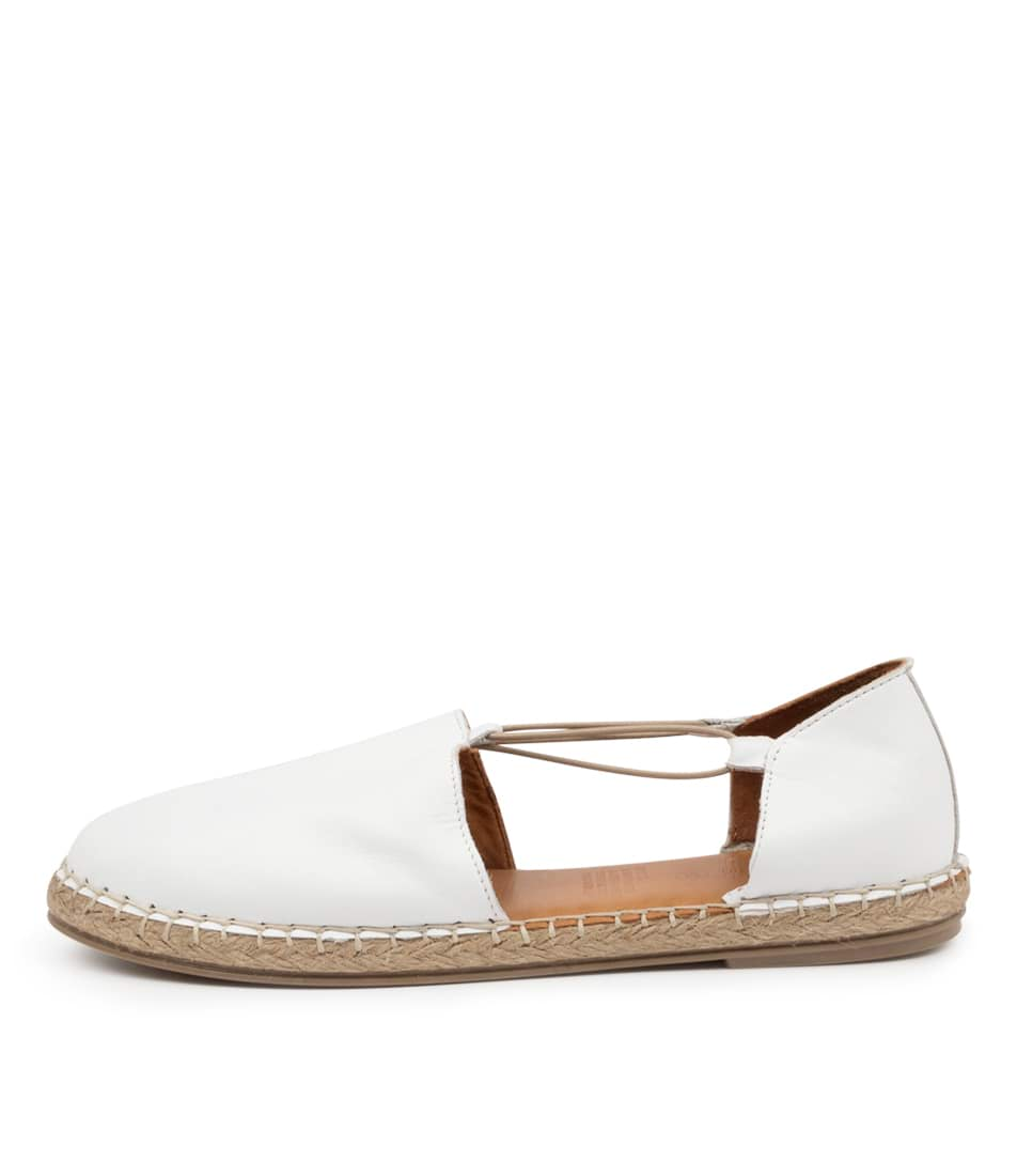 Buy Diana Ferrari Umta Df White Flats online with free shipping