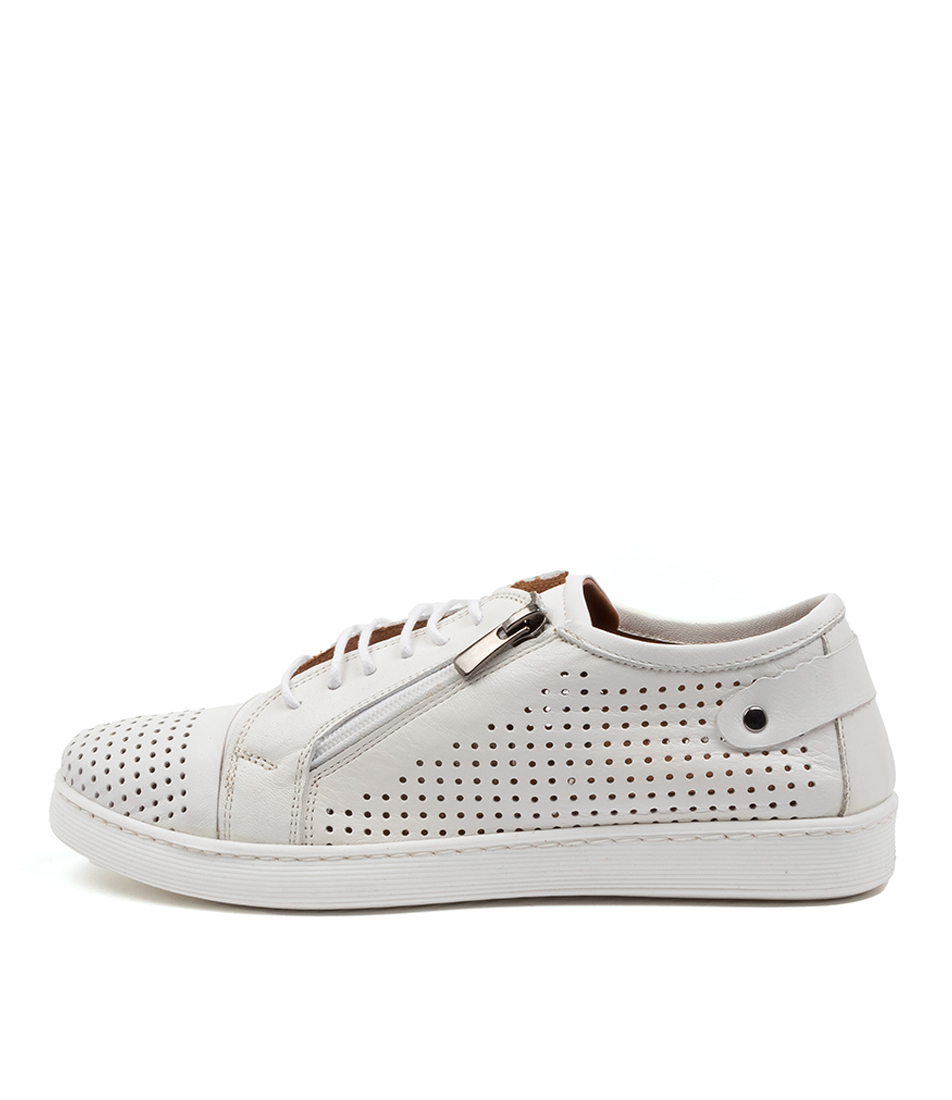 Buy Diana Ferrari Audie Df White Sneakers online with free shipping