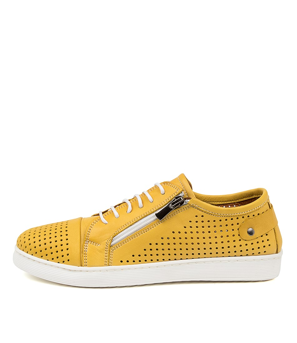 Buy Diana Ferrari Audie Df Dk Yellow Sneakers online with free shipping