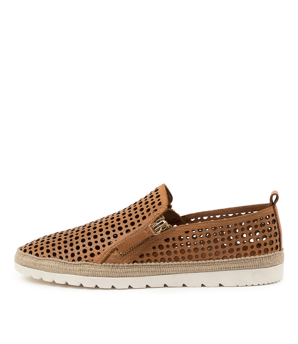 Buy Diana Ferrari Aroam Df Dk Tan Flats online with free shipping