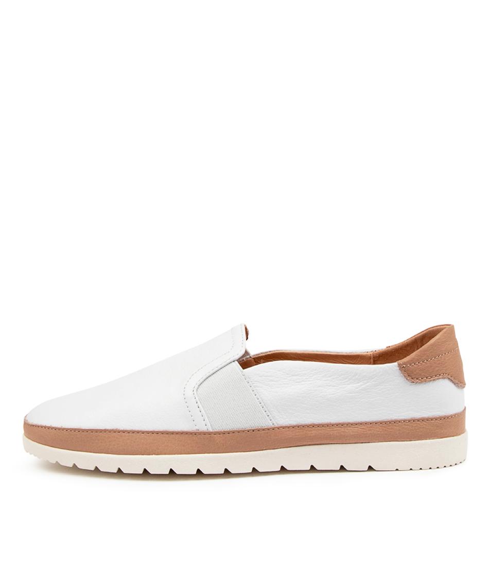 Buy Diana Ferrari Aisling Df White Dk Tan Flats online with free shipping