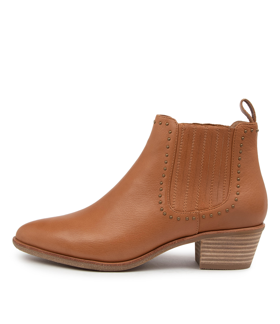 Buy Diana Ferrari Andine Df Dk Tan Ankle Boots online with free shipping