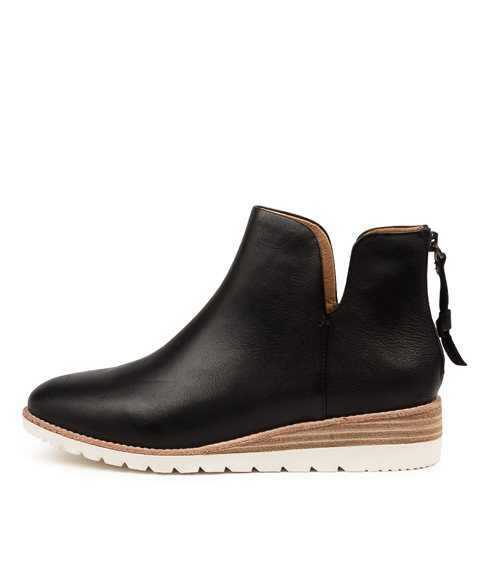 Buy Diana Ferrari Bunite Df Black White Sole Ankle Boots online with free shipping