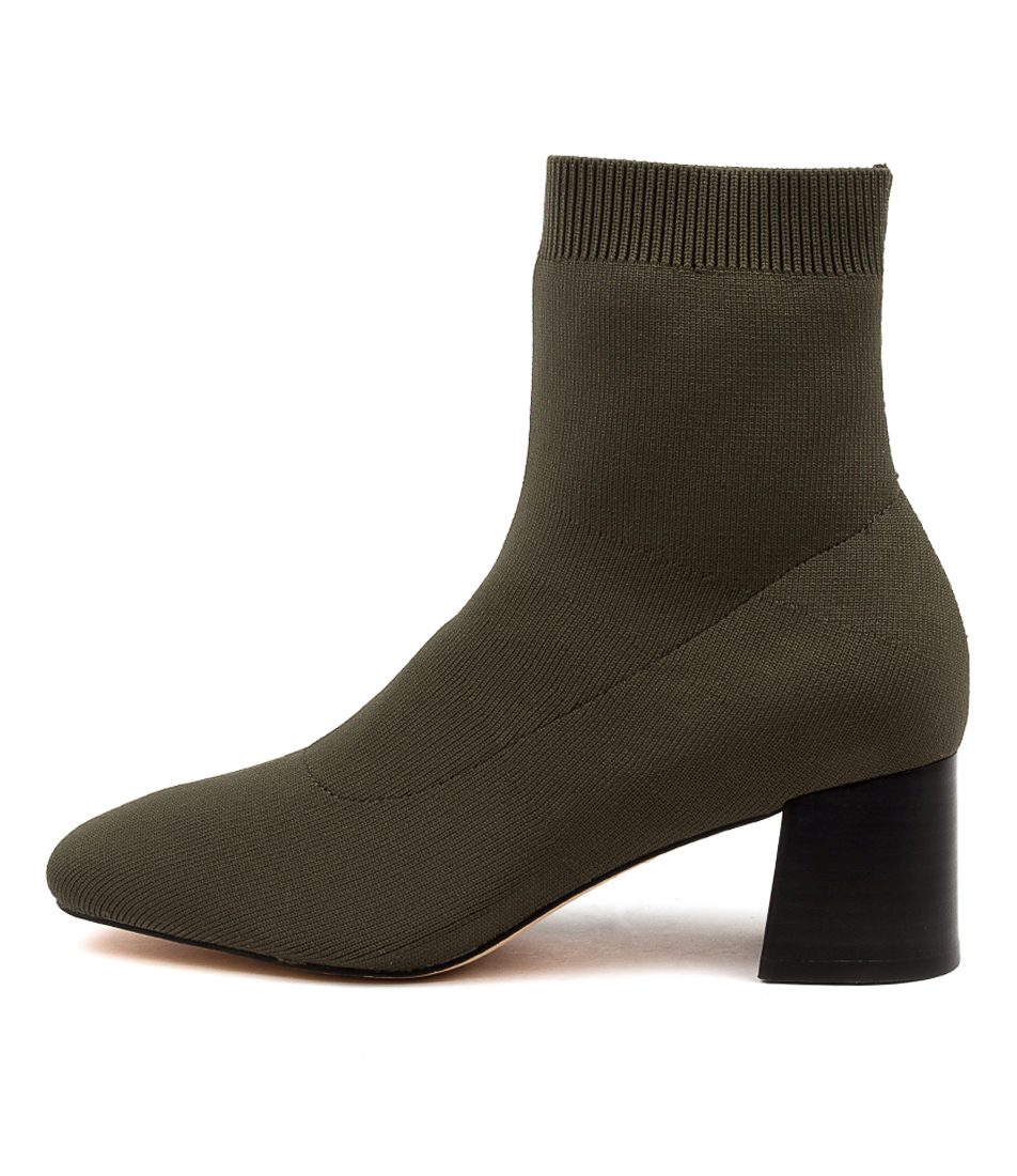 Buy Diana Ferrari Carlta Df Olive Ankle Boots online with free shipping