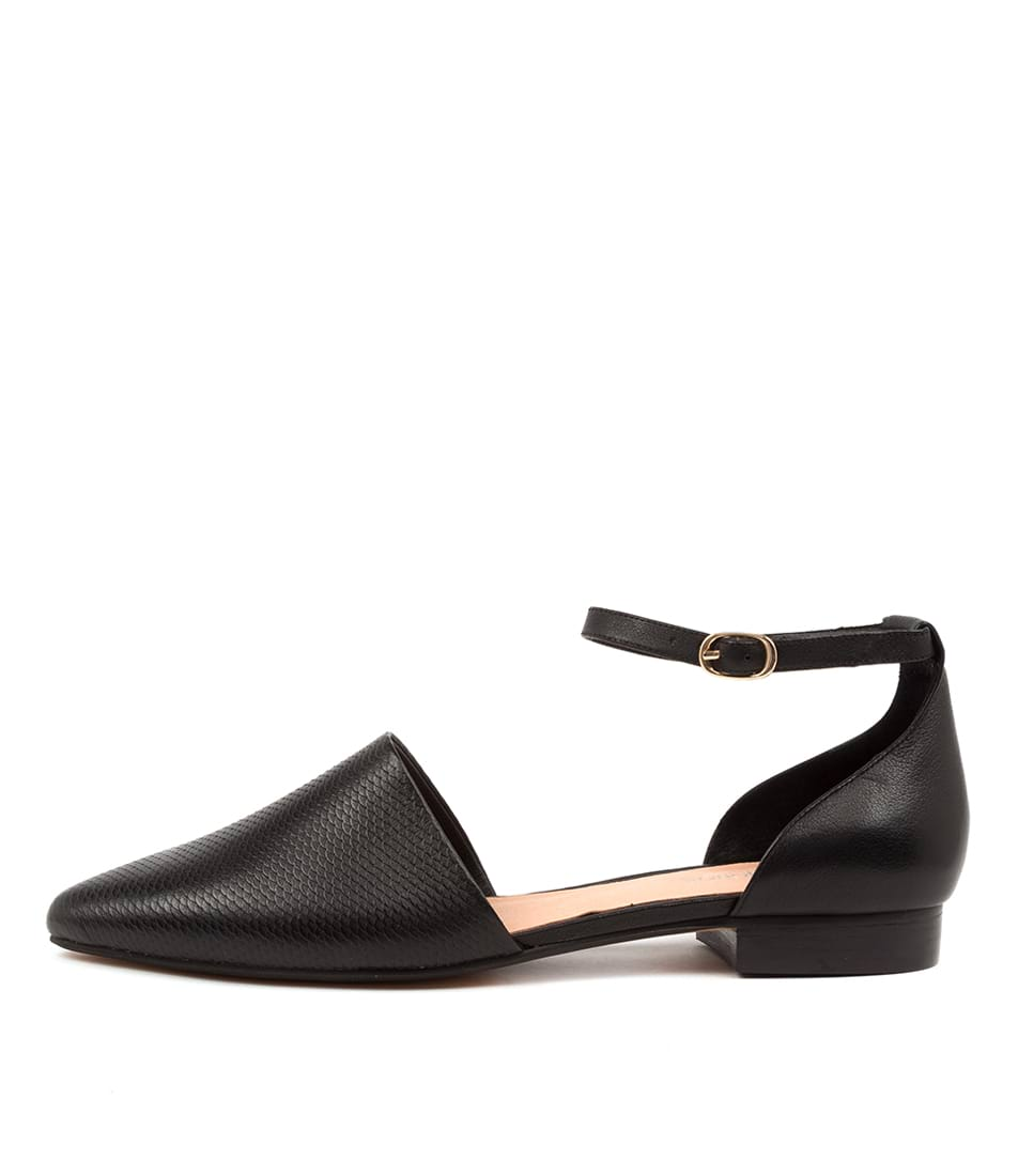 Buy Diana Ferrari Dallop Df Black Flats online with free shipping