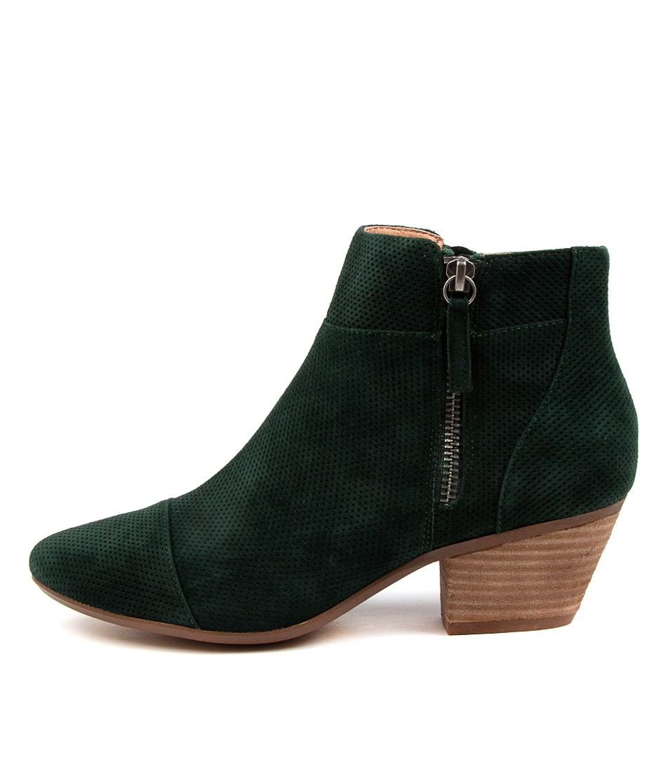 Buy Diana Ferrari Ident Df Deep Green Ankle Boots online with free shipping