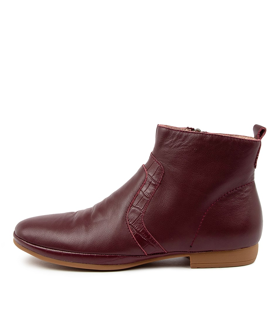 Buy Diana Ferrari Omaway Df Burgundy Ankle Boots online with free shipping
