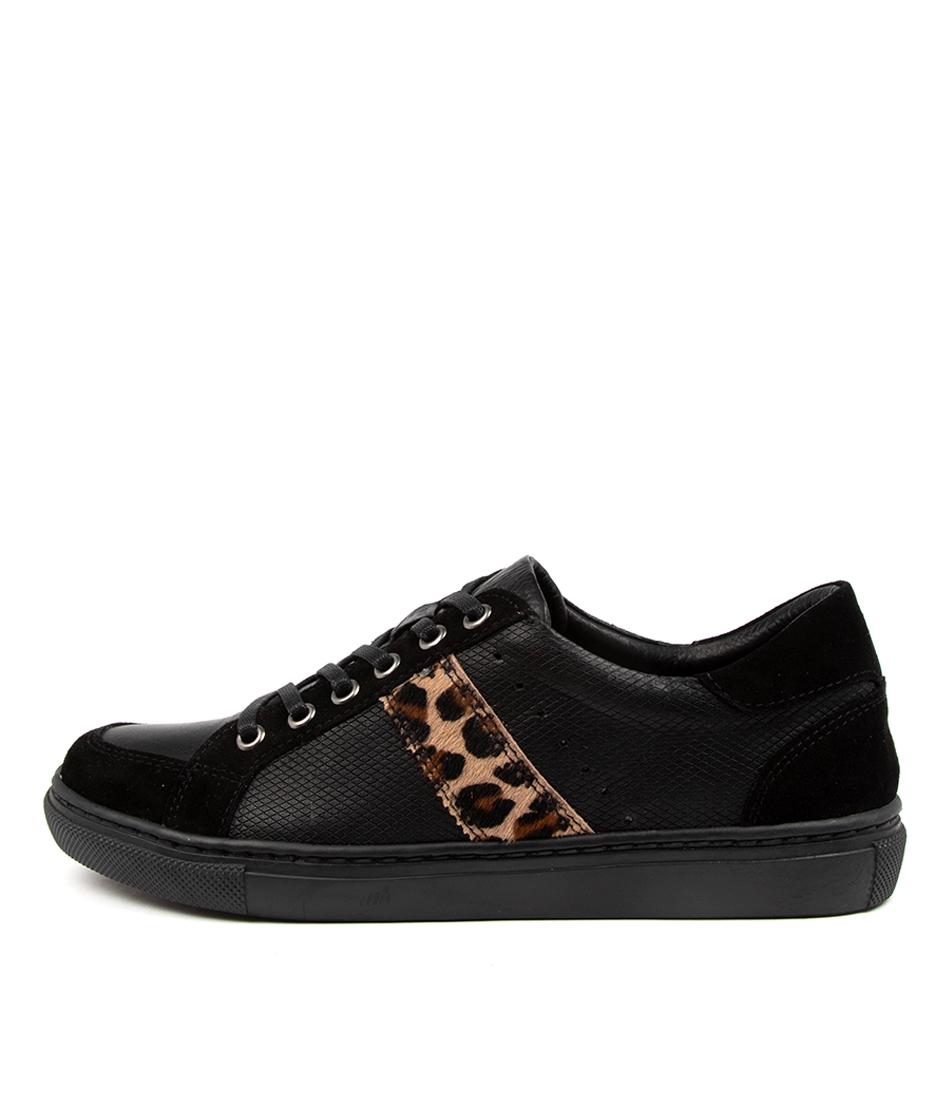 Buy Diana Ferrari Kighla Df Black Tan Leopard Sneakers online with free shipping