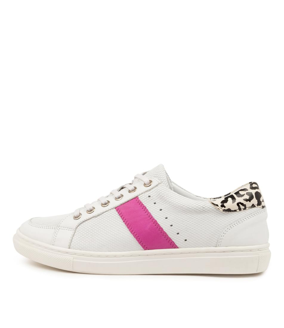 Buy Diana Ferrari Kighla Df White Leopard Sneakers online with free shipping