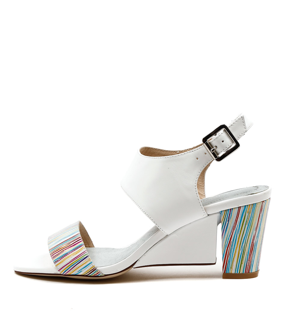 Django & Juliette Diesel White Dress Heeled Sandals